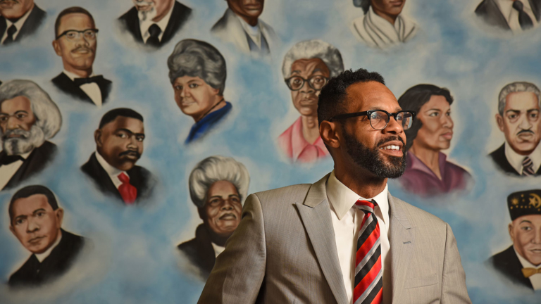 African American Cultural Center Director Moses T. Alexander Greene.